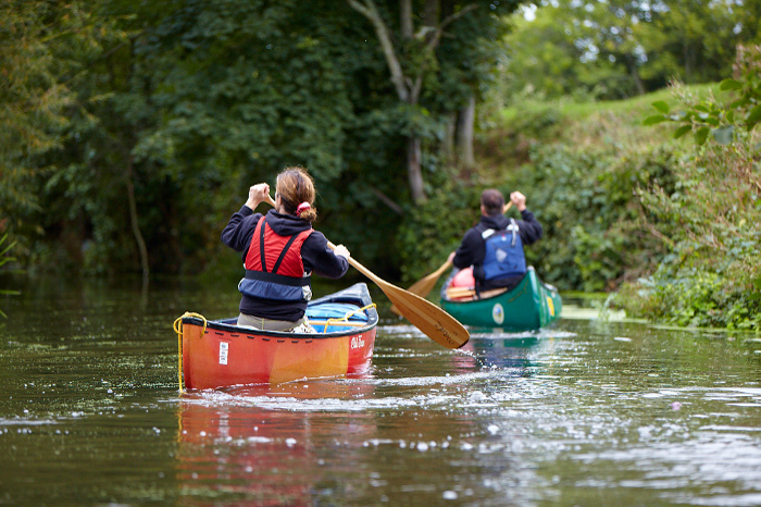 paddla kanot i halen